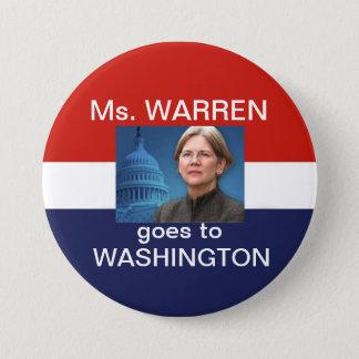 Ms. Waren Goes To Washingtonr 3 Inch Round Button
