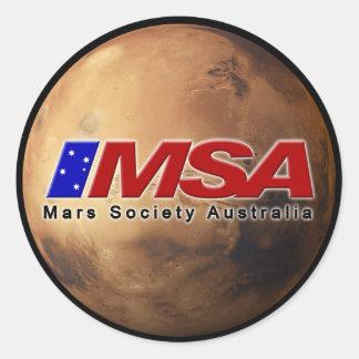 MSA Round Sticker