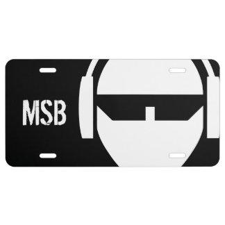 MSB + Val License Plate
