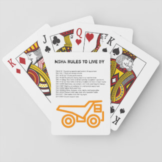MSHA Rules to live by Playing Cards