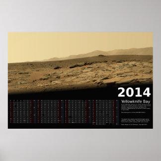 MSL Curiosity at Yellowknife Bay - 2014 Calendar Poster