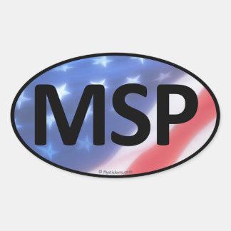 MSP Oval Sticker