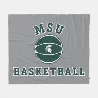 MSU Basketball | Michigan State University 4 Fleece Blanket