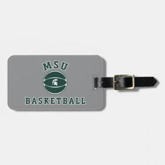 MSU Basketball | Michigan State University 4 Luggage Tag