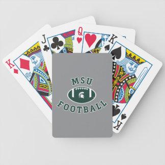 MSU Football | Michigan State University 4 Bicycle Playing Cards