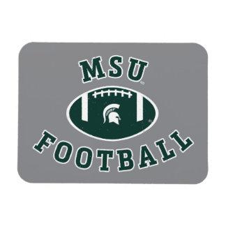 MSU Football | Michigan State University 4 Rectangular Photo Magnet