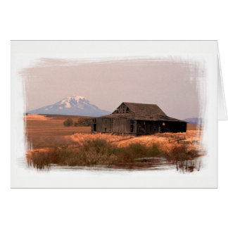 Mt. Adams And Country Ranch Barn Card