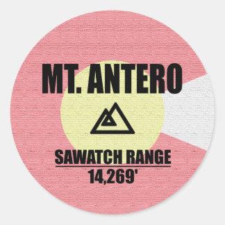Mt. Antero Classic Round Sticker