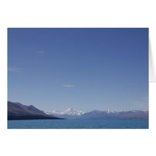 Mt Aoraki / Mt Cook, Lake Pukaki, New Zealand Card