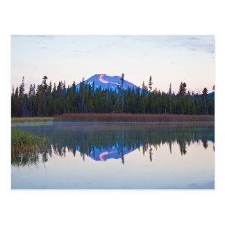 Mt Bachelor from Little Lava Lake, Oregon Postcard