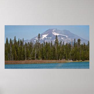 Mt Bachelor from Little Lava Lake, Oregon Poster