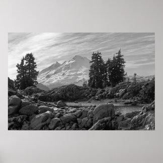 Mt. Baker B/W Print