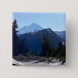 Mt. Baker from Artist Point. 2 Inch Square Button