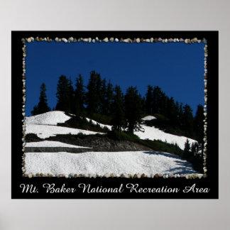 Mt Baker Summer Dusk Poster