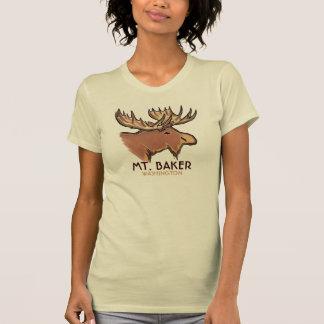 Mt. Baker Washington brown moose ladies tee