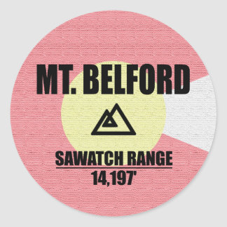 Mt. Belford Classic Round Sticker