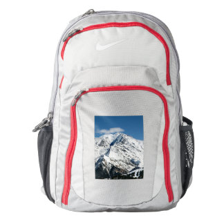 Mt. Blanc with clouds. Backpack