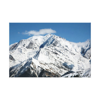 Mt. Blanc with clouds. Canvas Print