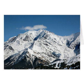 Mt. Blanc with clouds. Card