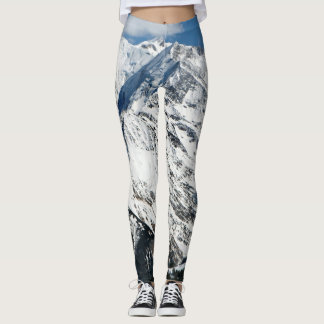 Mt. Blanc with clouds. Leggings
