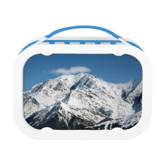 Mt. Blanc with clouds. Lunch Box