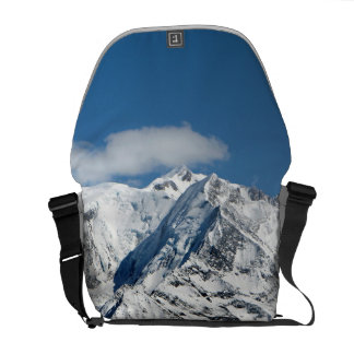 Mt. Blanc with clouds. Messenger Bag