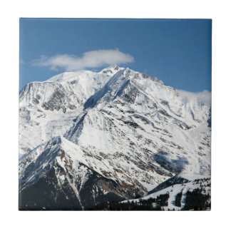 Mt. Blanc with clouds. Tile