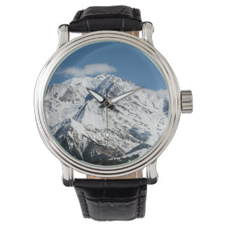 Mt. Blanc with clouds. Watch