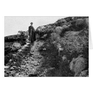 Mt. Carmel, trail near Shrine of the Bab, ca. 1907 Card