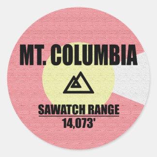 Mt. Columbia Classic Round Sticker