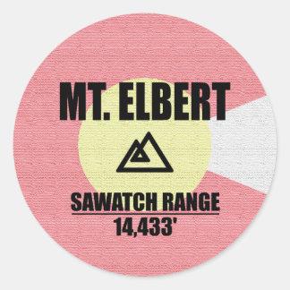 Mt. Elbert Classic Round Sticker