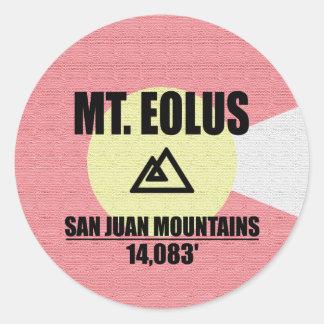 Mt. Eolus Classic Round Sticker