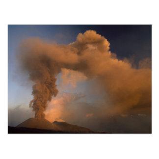 Mt. Etna summit vent, Sicily, Italy Postcard