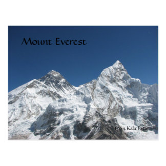 Mt Everest from Kala Patar Postcard