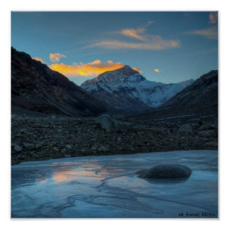 Mt.Everest HDR, Mt. Everest, 8838m Poster