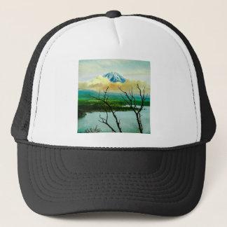Mt. Fuji 富士山 Through the Pines Vintage Japanese Trucker Hat