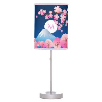 Mt Fuji Cherry Blossoms Spring Japan Night Sakura Desk Lamp
