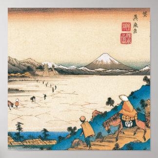 Mt. Fuji, Fuji-san. Japan. Circa 1800's. Poster