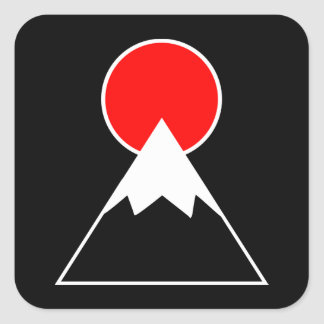 Mt. Fuji inspired Square Sticker