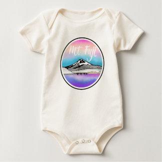 Mt Fuji Japan Landscape illustration Baby Bodysuit