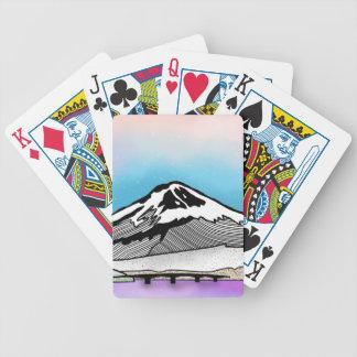 Mt Fuji Japan Landscape illustration Bicycle Playing Cards