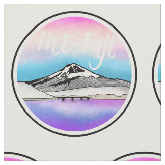 Mt Fuji Japan Landscape illustration Fabric