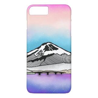 Mt Fuji Japan Landscape illustration iPhone 8 Plus/7 Plus Case