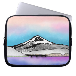 Mt Fuji Japan Landscape illustration Laptop Sleeve