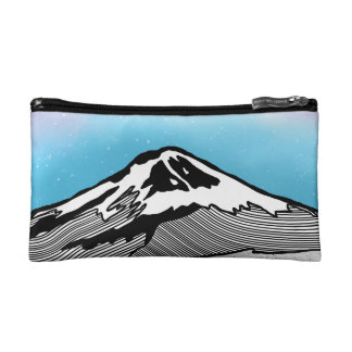 Mt Fuji Japan Landscape illustration Makeup Bag