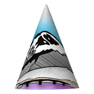 Mt Fuji Japan Landscape illustration Party Hat