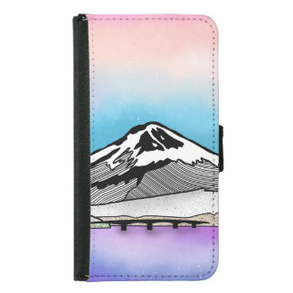 Mt Fuji Japan Landscape illustration Samsung Galaxy S5 Wallet Case