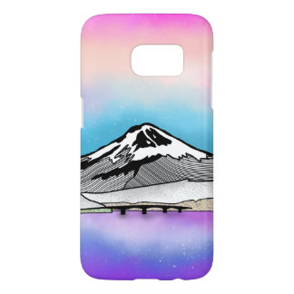Mt Fuji Japan Landscape illustration Samsung Galaxy S7 Case