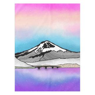 Mt Fuji Japan Landscape illustration Tablecloth