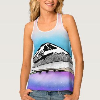 Mt Fuji Japan Landscape illustration Tank Top